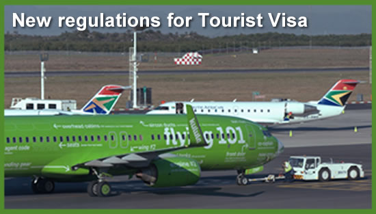 South Africa Tourist Visa - New regulations