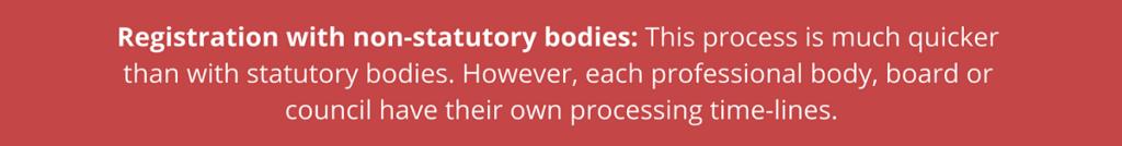 Non statutory bodies