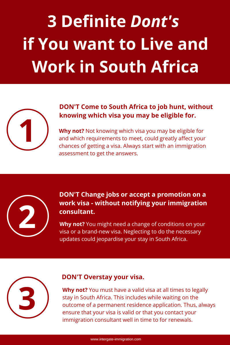 live and work in south africa